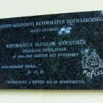 Refisz emléktábla 2008