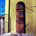 A lelkészi hivatal régi bejárata