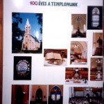 Centenáriumi kiállítás. Nyitó tabló 1998.